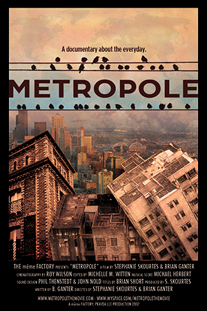 Metropole poster/postcard with film credits.